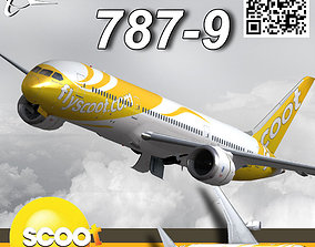 3D model Boeing 787-9 FlyScoot livery