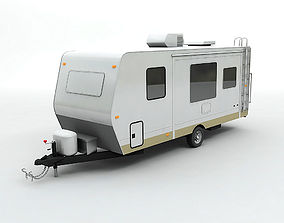 1-axle Travel Trailer Toy Hauler 1-Axle 3D model