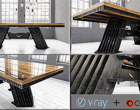 Vintage Table 3D asset realtime