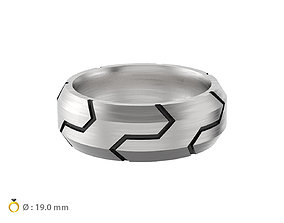 N138 Men stylish band ring 3D printable model