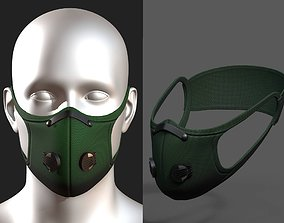 3D asset Gas mask fabric Green protection classic