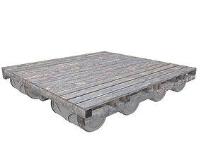 Wooden Raft 3D asset
