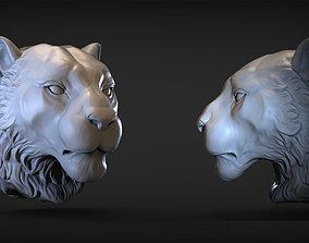 3D print model Tiger head mammal