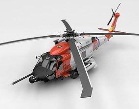 3D model SH-60 Sea Hawk Coast Guard