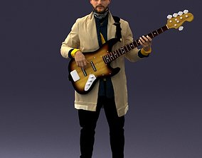 Musician bass guitar player 0118 3D Print Ready