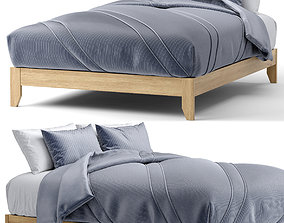 3D Simple queen platform bed by Simple Living
