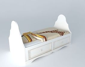 3D model INES ivory crib Maisons du monde