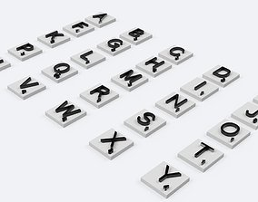 SCRABBLE 3D Letters for English version board game stl 1