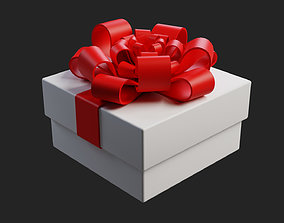 Gift box 3D model low-poly