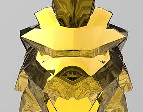Neon lion mask 3D printable model