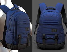 3D asset Backpack Camping bag baggage