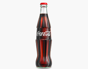 3D model low-poly Coca Cola Bottle