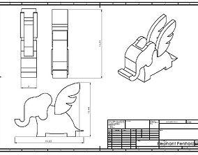 3D printable model Elephant Penholder