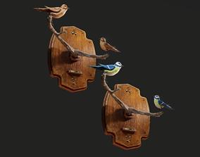 3D asset Bird Wall Decoration