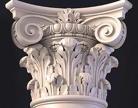 3d Ionic column capital