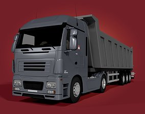 3D long Tipping Truck - Trailer