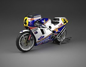Honda NSR 500 Motorbike 3D asset