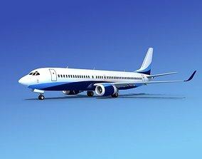 3D model Boeing 737-800 BBJ 1