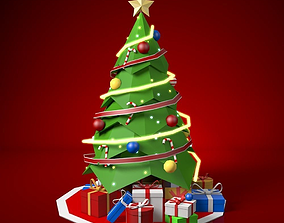 3D model Low Poly Christmas Tree