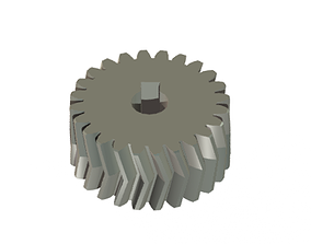 Double Helical Gear 3D model