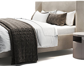 3D model Jake Upholstered Storage Platform Bed