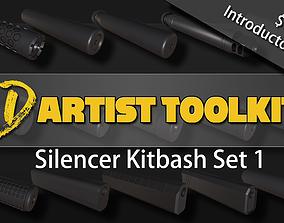 3D Kitbash Silencer Set- Volume 1 realtime