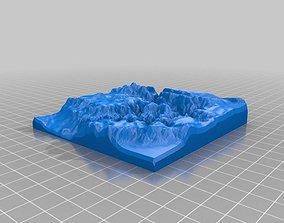 Grand Canyon Map 3D print model