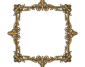 3D antique architectural Carved Picture Frame