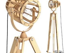 Tripod floor lamp 3D model tripod