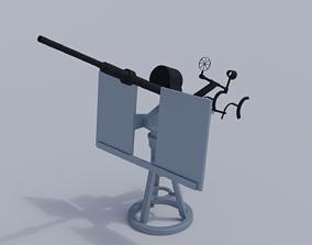 3D model 20mm Anti-Aircraft Gun