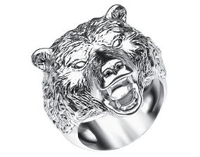 Ring 003 bear 3D print model