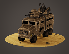 3D asset stylized soldier carrier