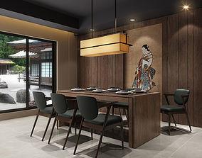 Japanese Dining Room 01 3D model