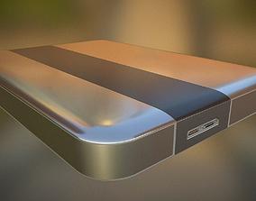 electronic External Hard Drive High Poly Version 3D