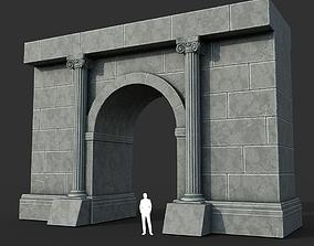 3D model Low poly Ancient Roman Ruin Construction 02 - 1