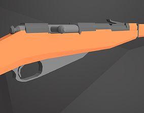 3D model game-ready Mosin-Nagant LowPoly