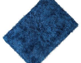 3D model Carpet seven color fur