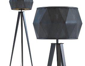 3D Floor Lamp Stright Tripod Matt Black
