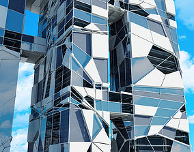 Futuristic Skyscraper 3 3D