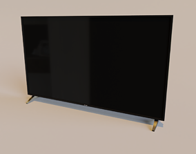Low Poly LED TV LG 49 inches 3D model
