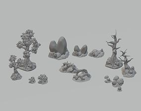 Nature Environment Tabletop Scenery Full 3D print model 1