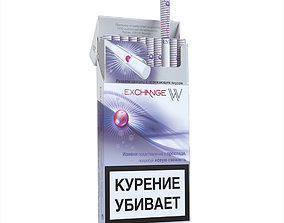 Cigarettes Pack Esse Exchange W 3D model