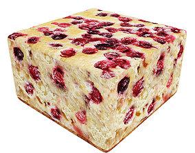 3D model Cranberry cake bar