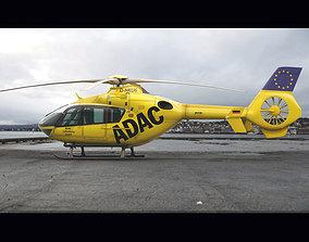 Eurocopter EC 135 Emergency Helicopter 3D model