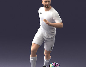 Soccer player with ball 0912 3D Print Ready