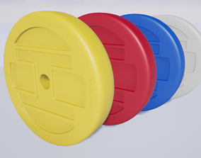 3D asset Dumbbell Disc