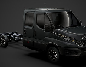 3D model Iveco Daily Crew Cab L4 Chassis 2020