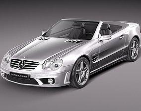 Mercedes-Benz SL 65 AMG 2006 3D Model