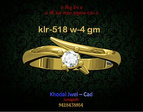 ladies ring silver 3D asset realtime