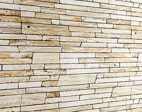 3D model Seamless Stone Wall 3